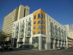 Exterior view of Harrison Street Senior Housing