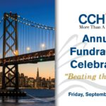 Cover of invitation to 2016 Annual Fundraising Celebration, with image of bridge on left side